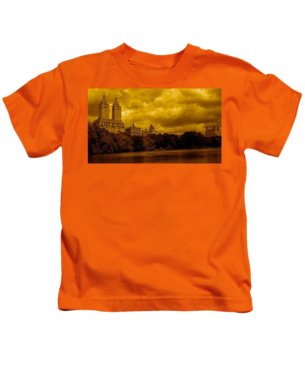 Iphone Cover Cases Kids T-Shirt featuring the photograph Upper West Side And Central Park by Monique's Fine Art