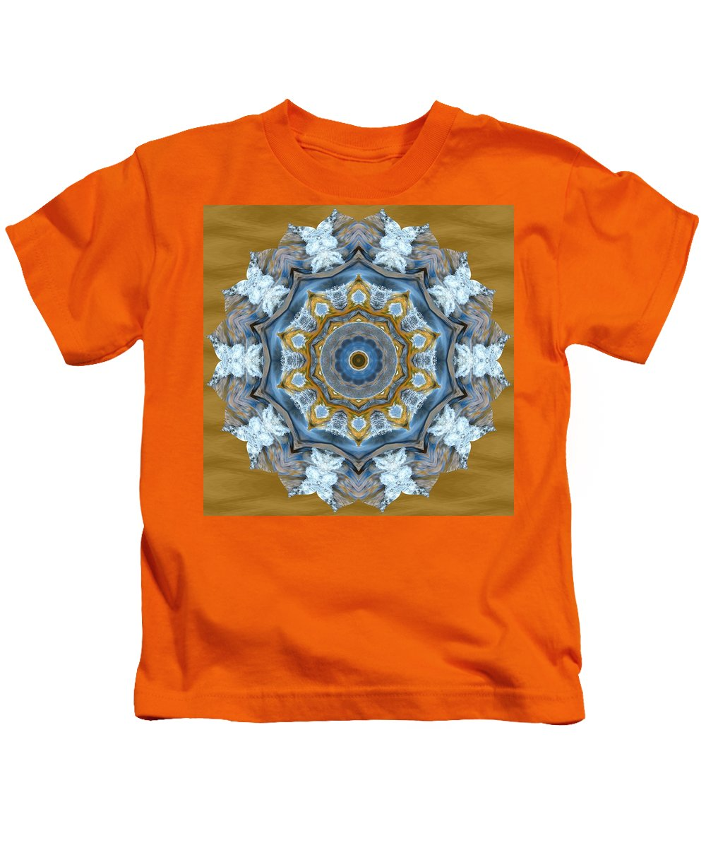 Abstract Kids T-Shirt featuring the photograph Water Patterns Kaleidoscope by Natalie Rotman Cote