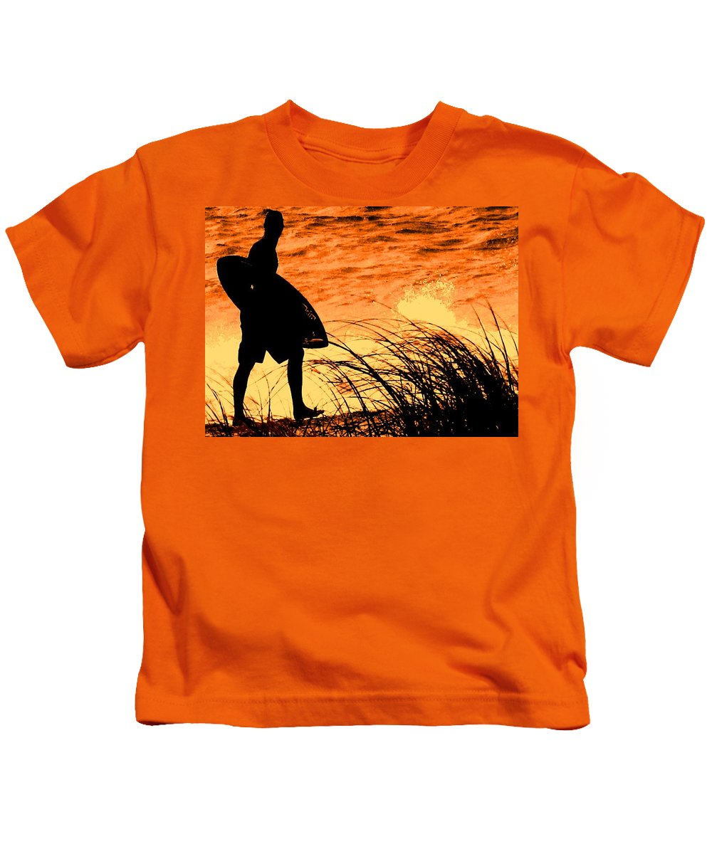Florida Kids T-Shirt featuring the photograph Wave Search by Ian MacDonald