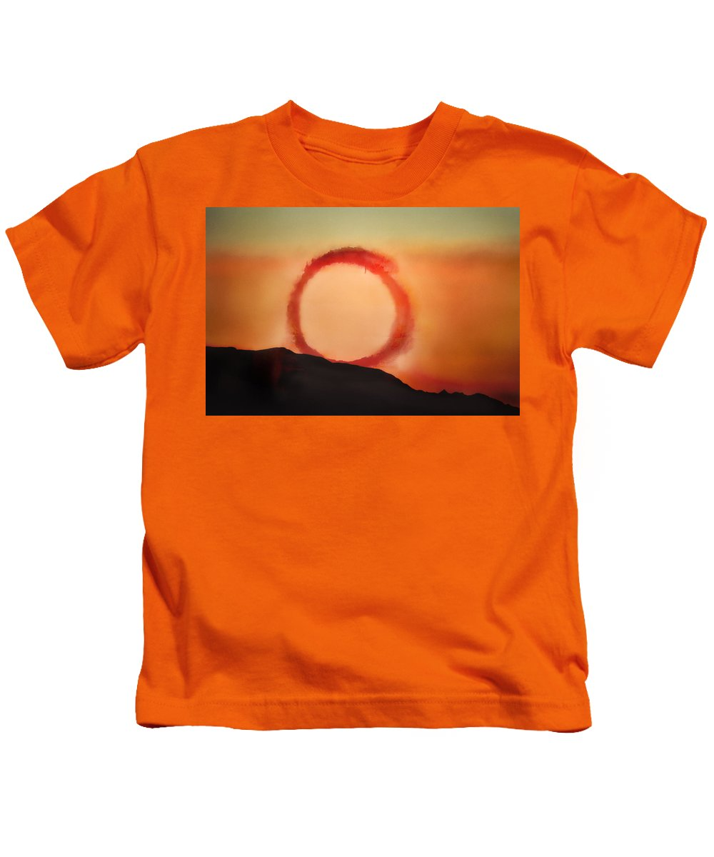 Sunset Kids T-Shirt featuring the photograph Wheel In The Sky by John Hansen