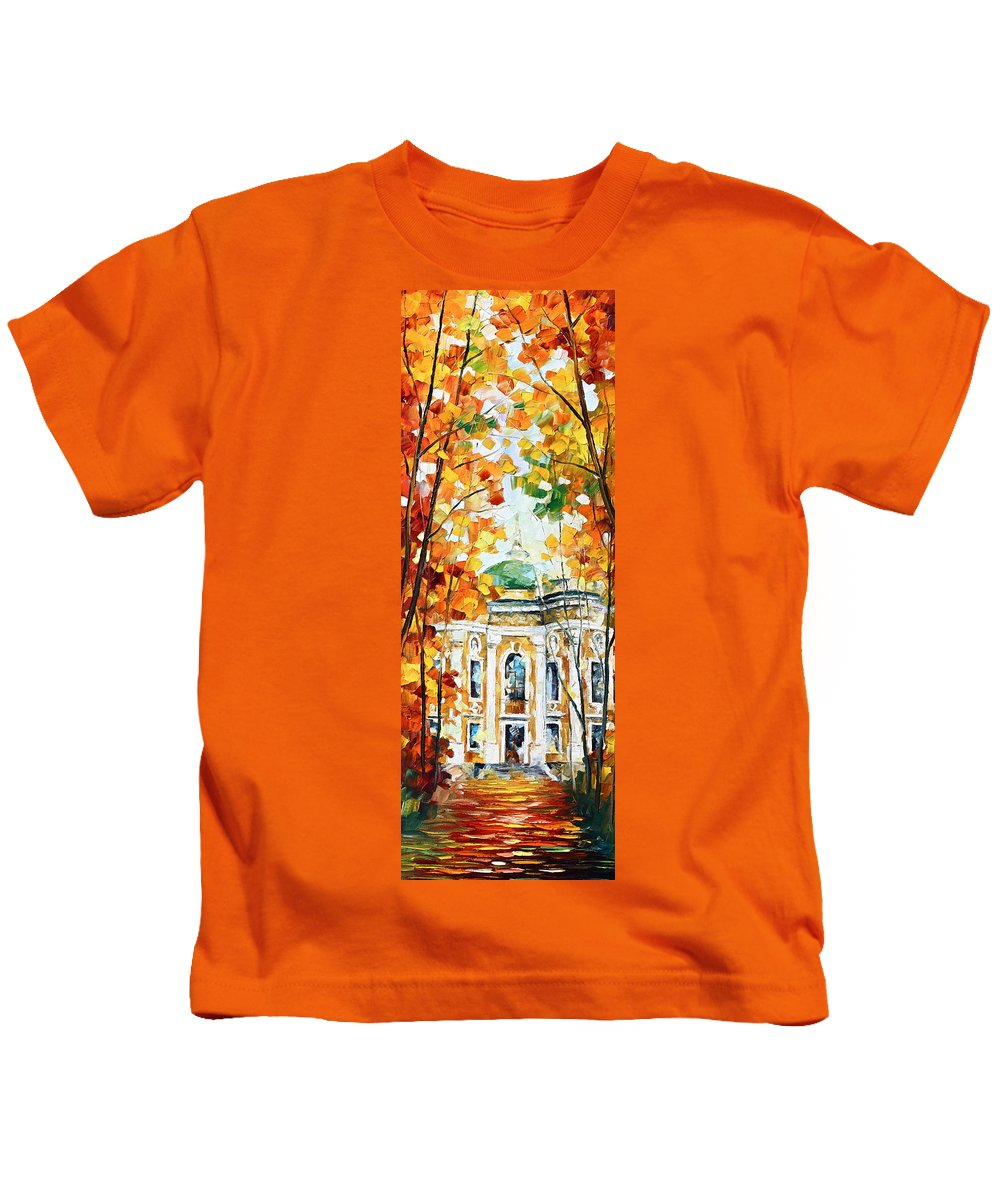 Afremov Kids T-Shirt featuring the painting Wind Of Dreams 2 by Leonid Afremov
