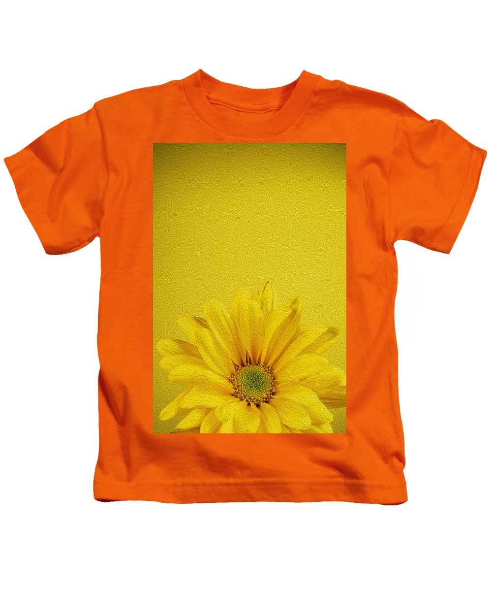 Chrysanthemum Kids T-Shirt featuring the photograph Yellow Chrysanthemum by Vishwanath Bhat