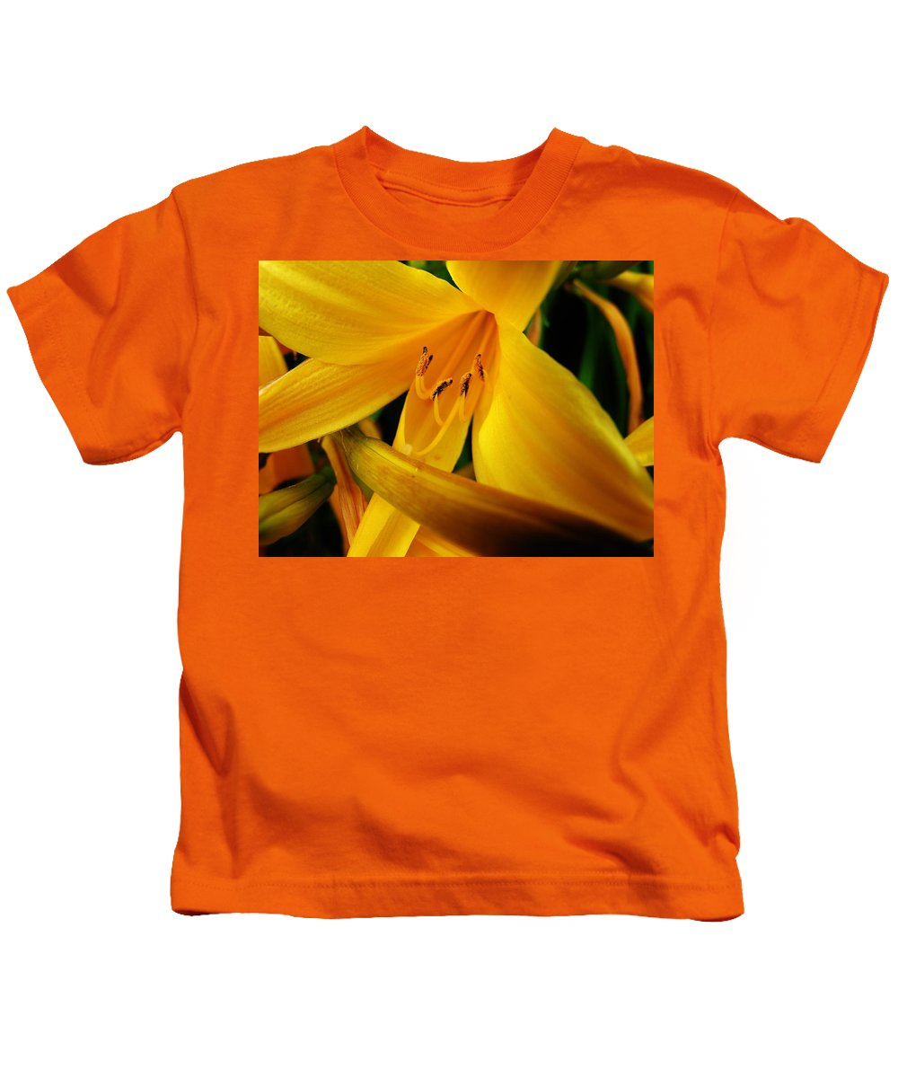 Flower Kids T-Shirt featuring the photograph Yellow Flower by Sherman Perry