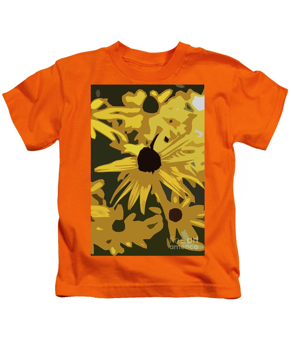 Flower Kids T-Shirt featuring the digital art Yellow Paper Flower by Christiane Schulze Art And Photography