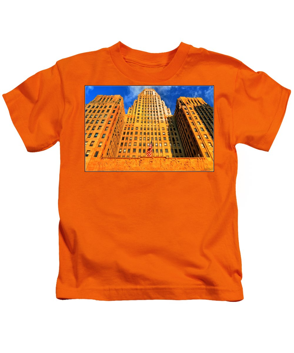 Kids T-Shirt featuring the photograph 003 Wakening Architectural Dynamics by Michael Frank Jr