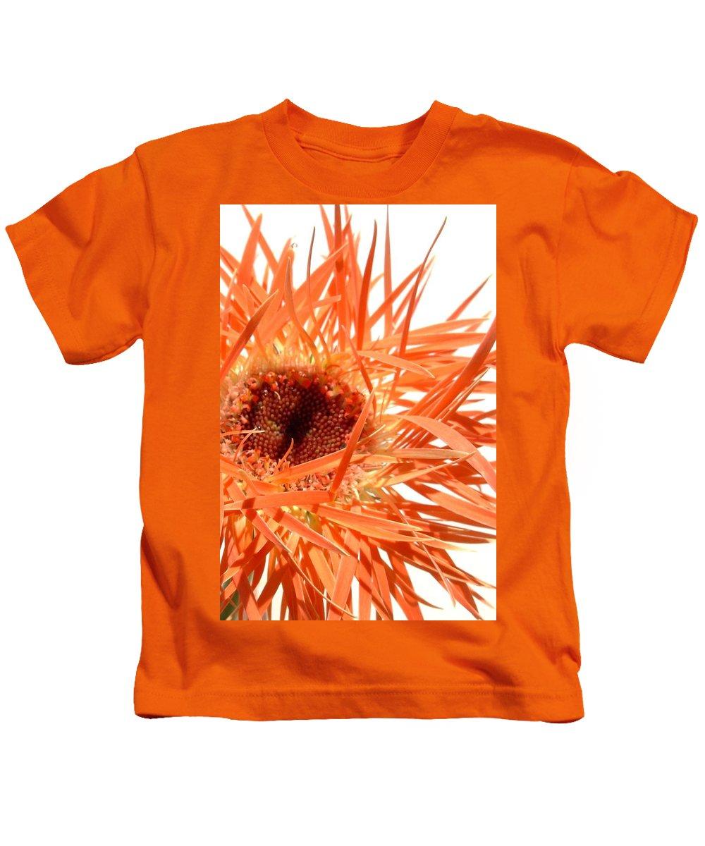 Gerbera Photographs Kids T-Shirt featuring the photograph 0689c-002 by Kimberlie Gerner