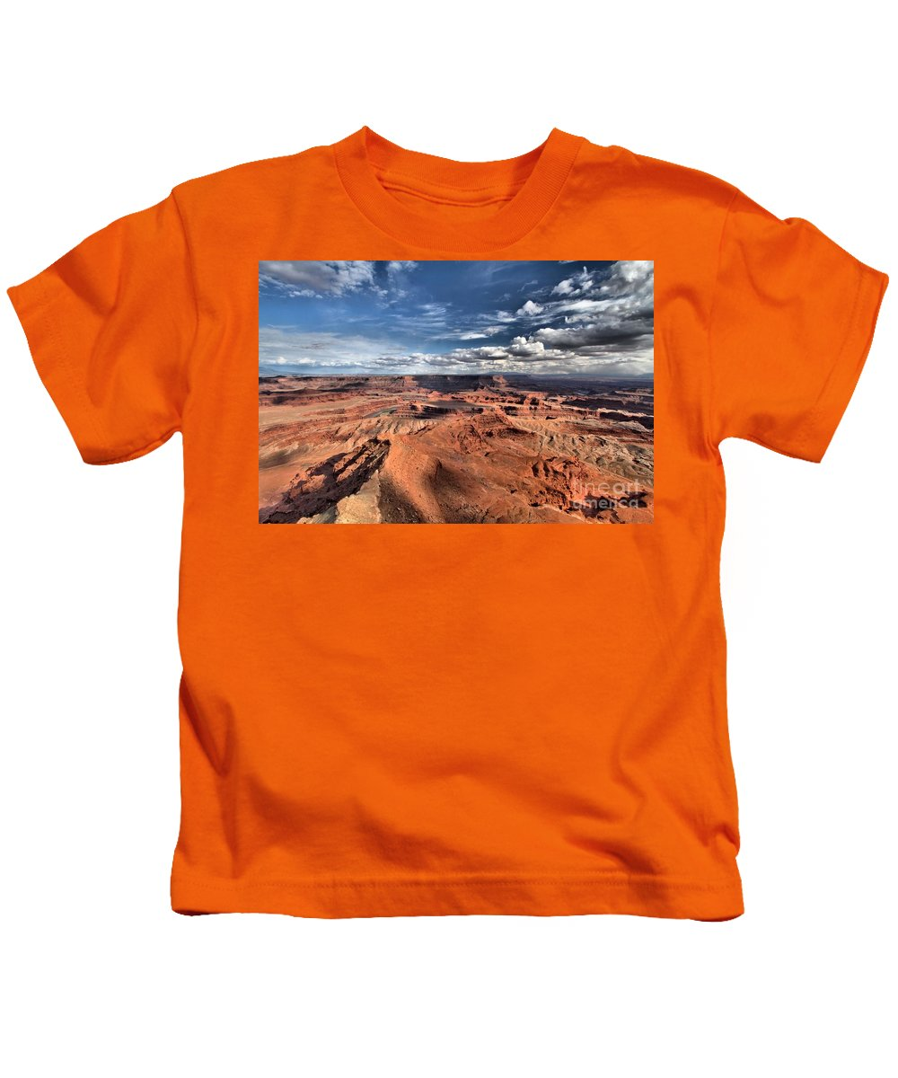 Dead Horse Point Kids T-Shirt featuring the photograph Endless Views by Adam Jewell