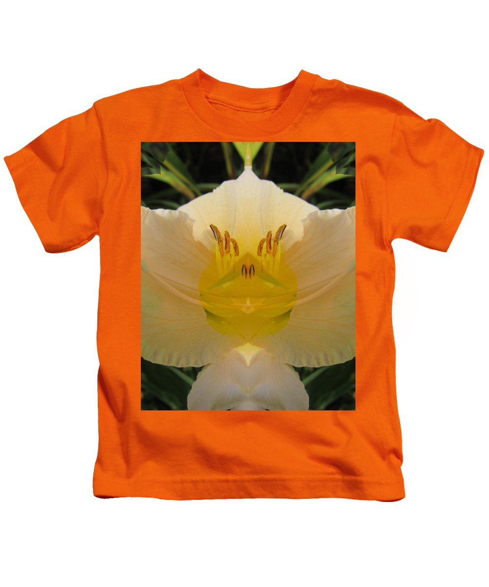 Color Blend Kids T-Shirt featuring the digital art Angelic Lily by Michele Caporaso