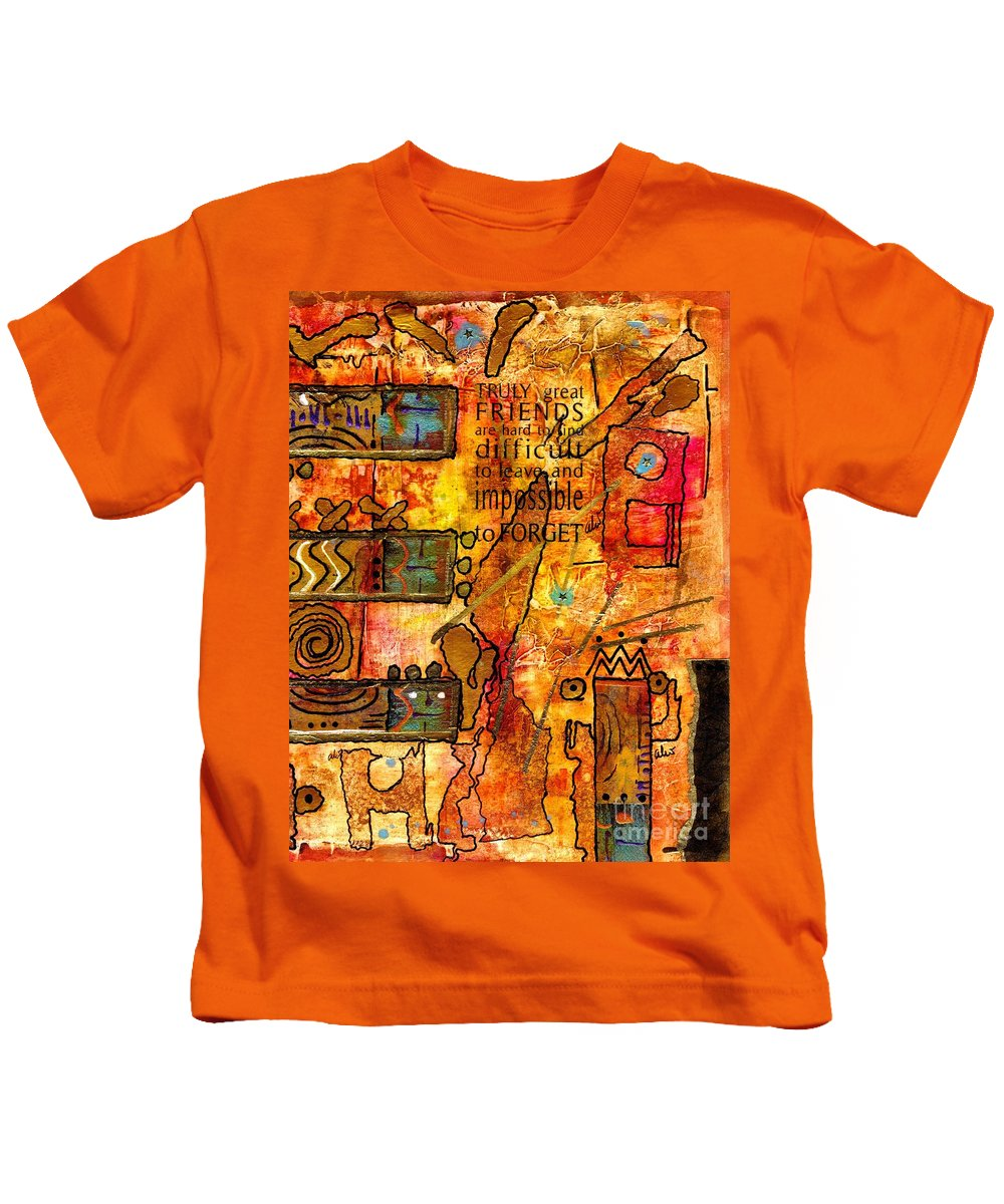 Acrylic Kids T-Shirt featuring the mixed media Abstraction by Angela L Walker
