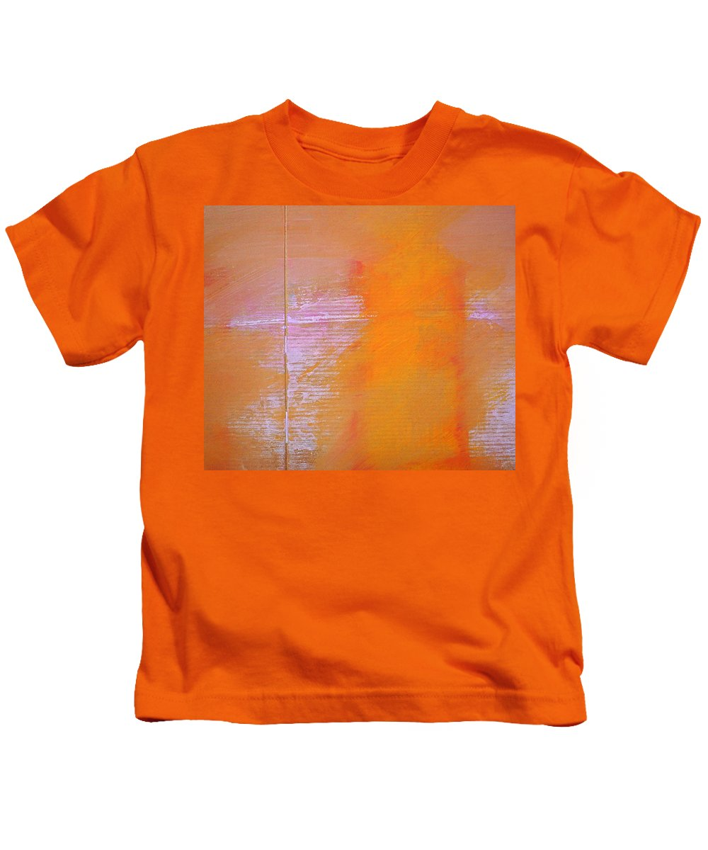 Abstract Kids T-Shirt featuring the painting Amethyst Meridian by Charles Stuart