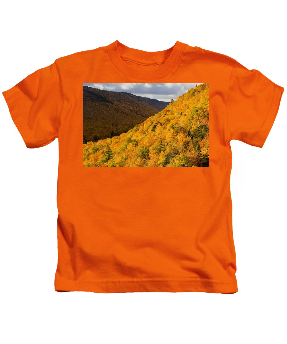 Autumn Colors Kids T-Shirt featuring the photograph Autumn Colours At North Mountain by John Sylvester