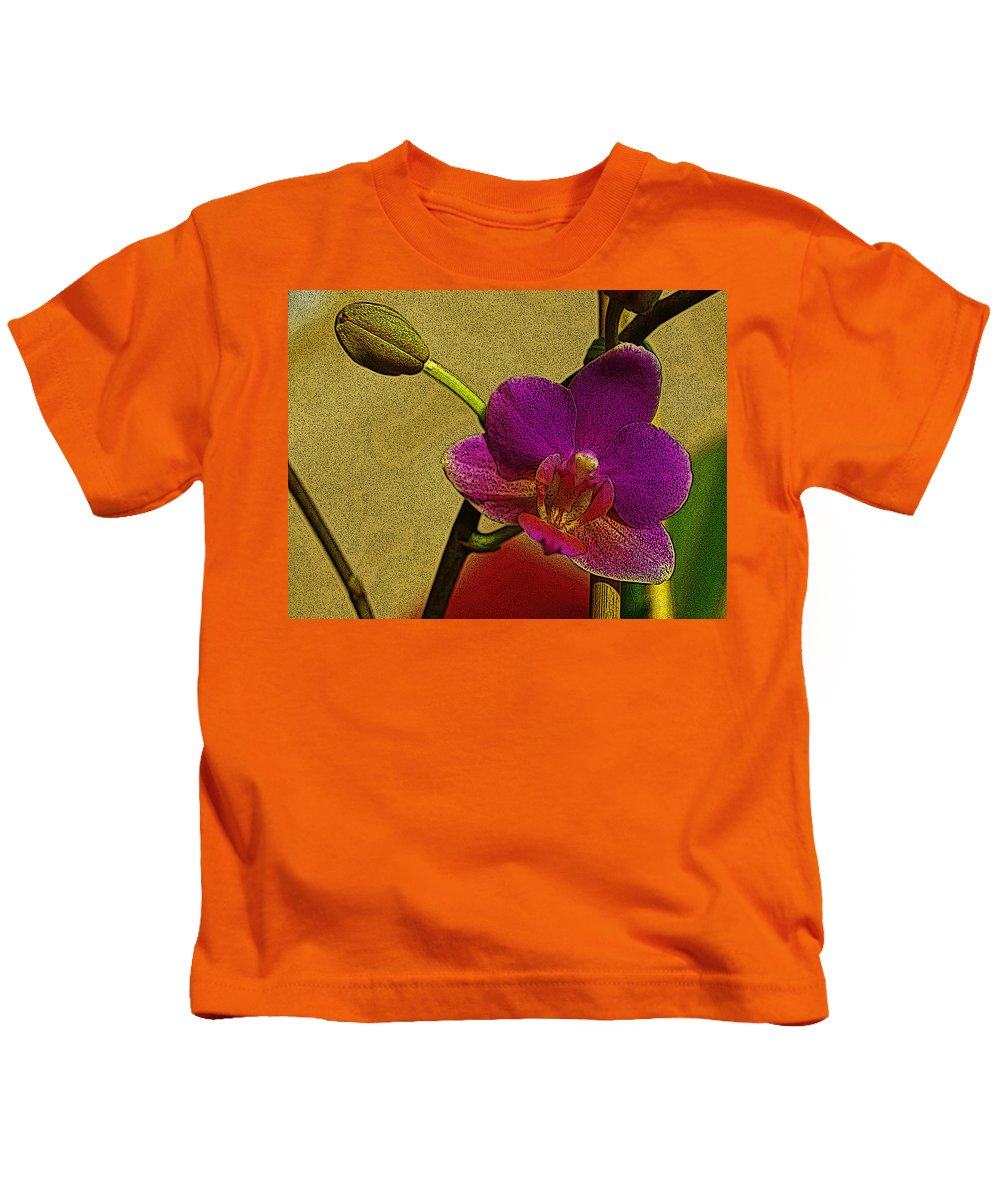 Orchid Kids T-Shirt featuring the digital art Beauty In Bloom by Teri Schuster