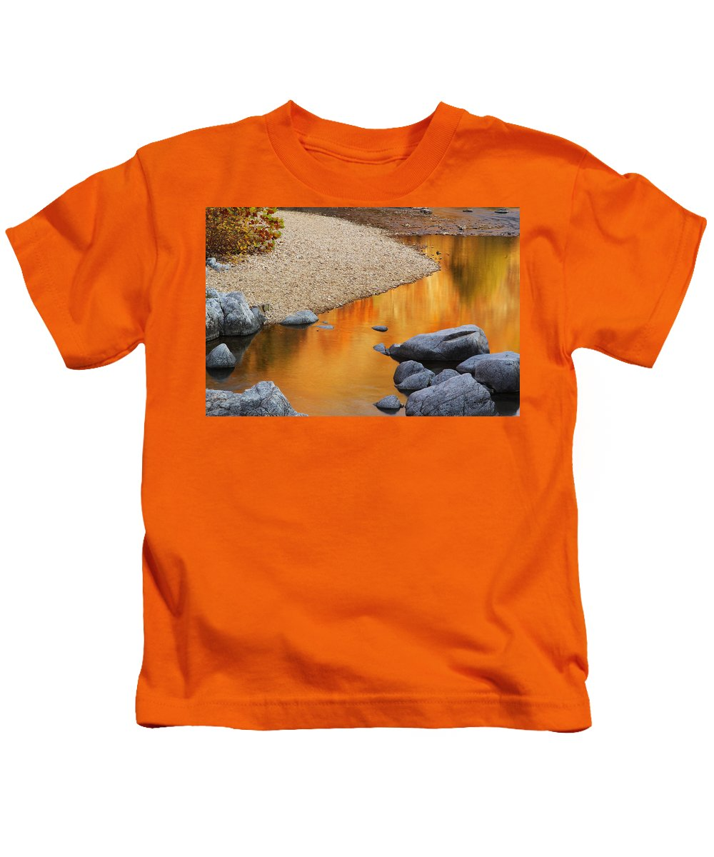 Relections Kids T-Shirt featuring the photograph Black River Reflections At Johnsons Shut Ins State Park I by Greg Matchick