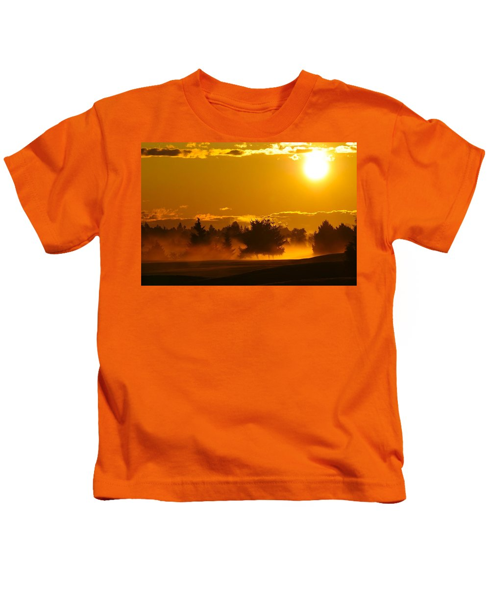 Red Kids T-Shirt featuring the photograph Dawn 2 by Martin Cooper