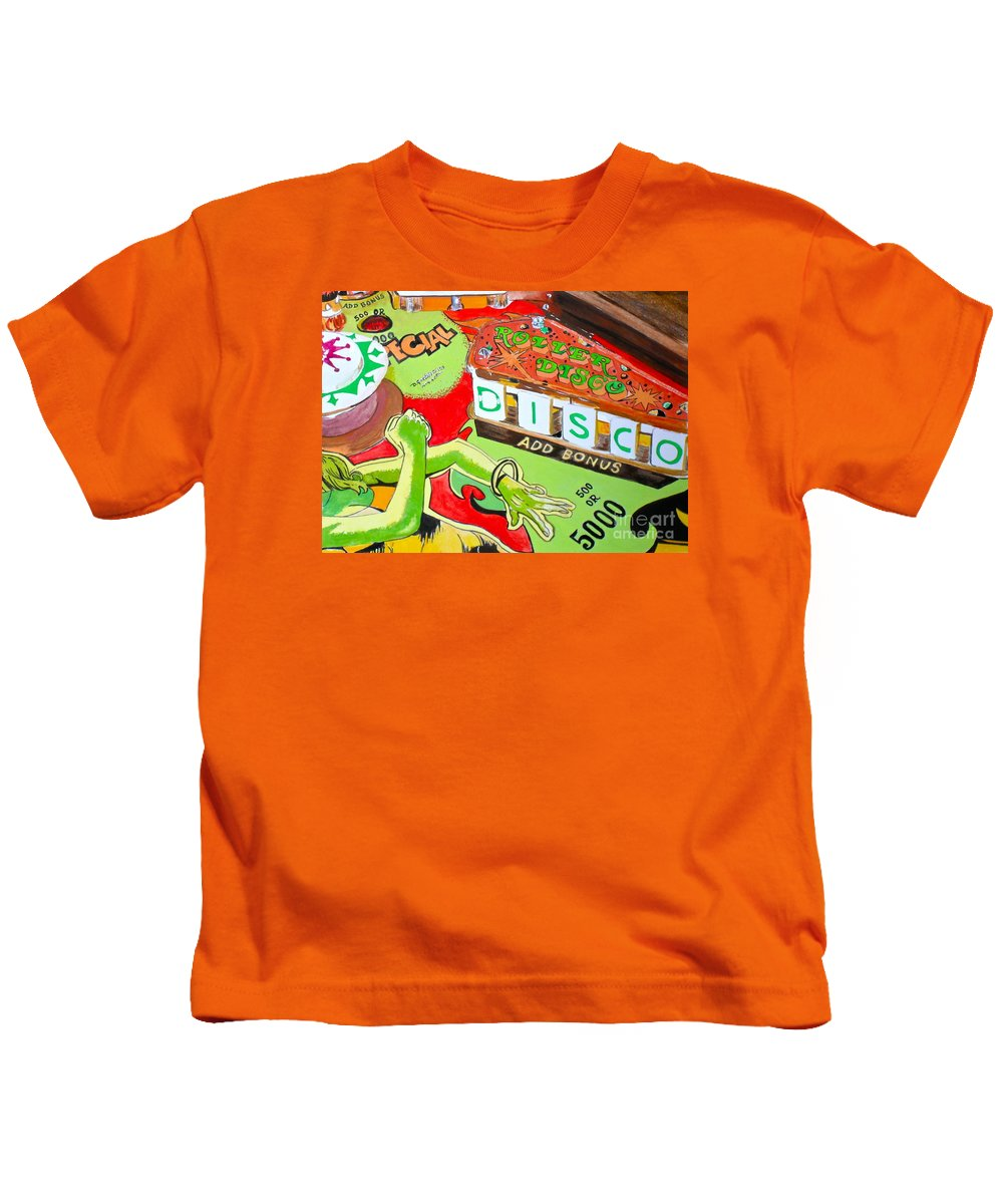 Disco Kids T-Shirt featuring the painting Disco Pinball by Beth Saffer