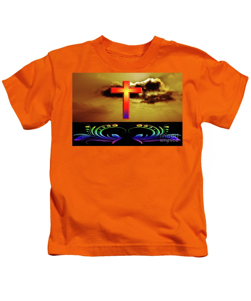 All Rights Reserved Kids T-Shirt featuring the photograph Divine Intervention by Clayton Bruster