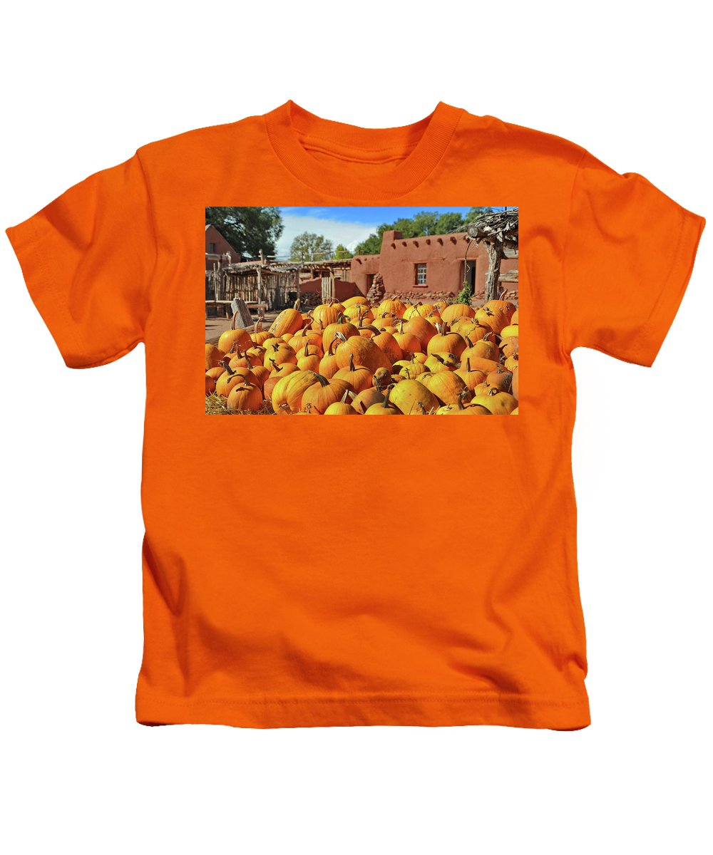 New Mexico Kids T-Shirt featuring the photograph Fall Harvest by Ron Weathers