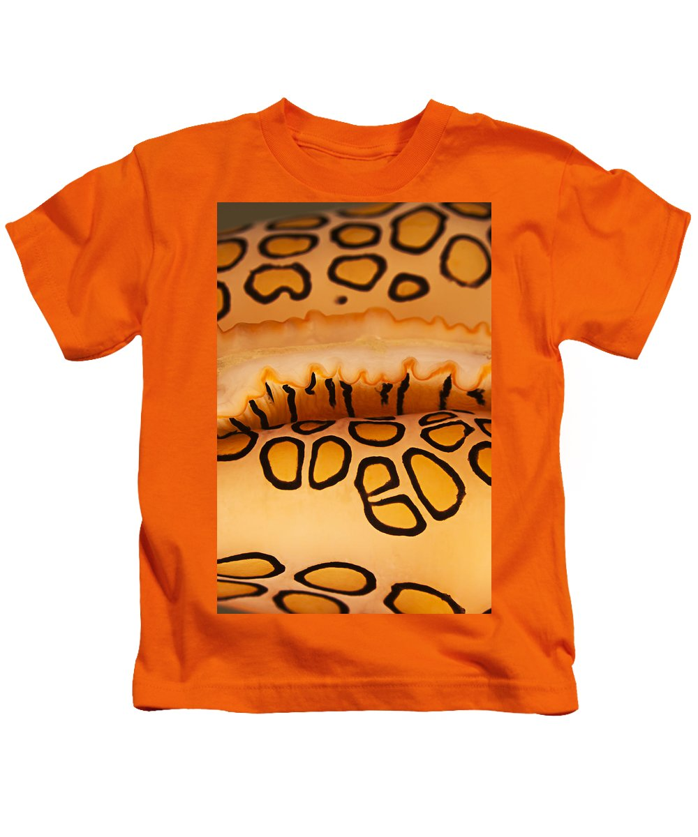 Abstract Kids T-Shirt featuring the photograph Flamingo Tongue by Dave Fleetham - Printscapes
