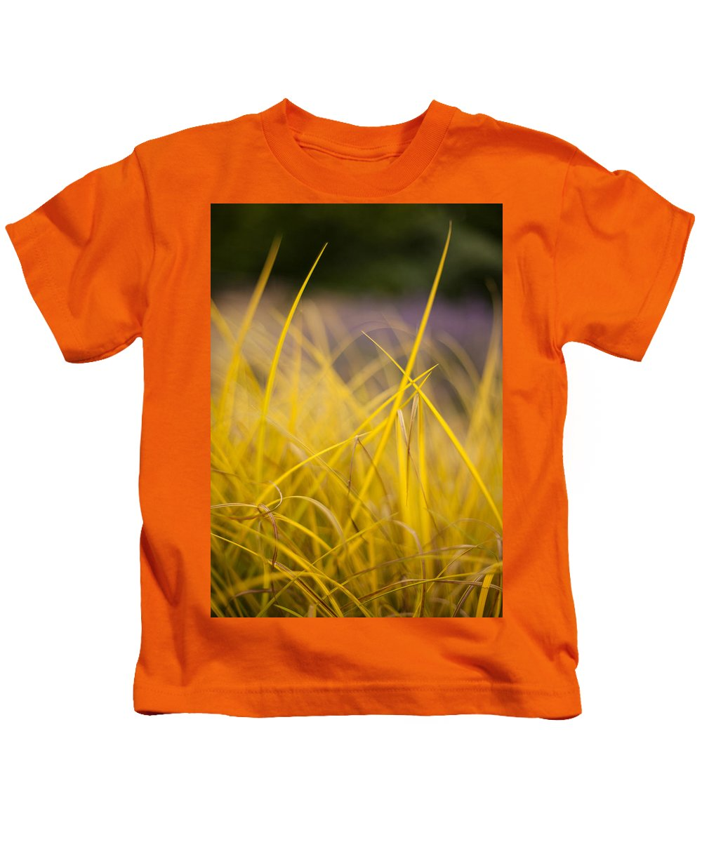 Grass Kids T-Shirt featuring the photograph Grass Abstract 3 by Mike Reid