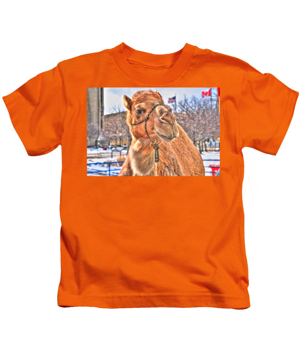 Kids T-Shirt featuring the photograph Just A Tad Bit Shy by Michael Frank Jr