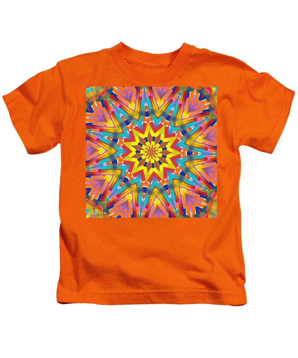 Kaleidoscopes Kids T-Shirt featuring the digital art Kaleidoscope Series Number 7 by Alec Drake