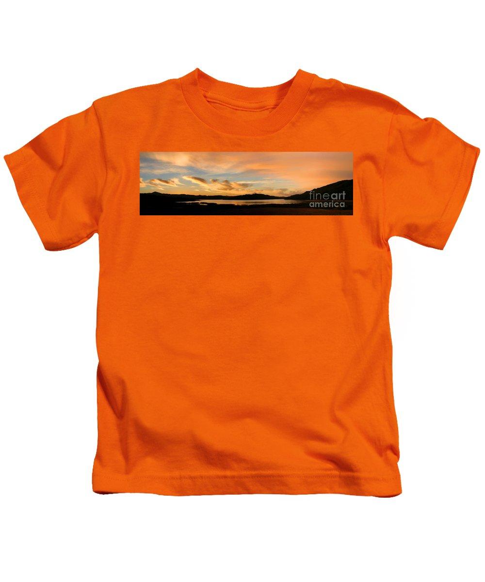 Water Kids T-Shirt featuring the photograph Lake Casitas Sunrise by Henrik Lehnerer
