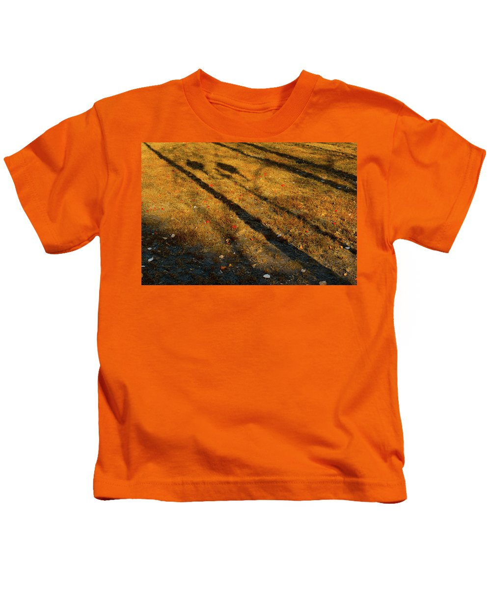 Autumn Kids T-Shirt featuring the photograph Lights And Shadows by Michael Goyberg