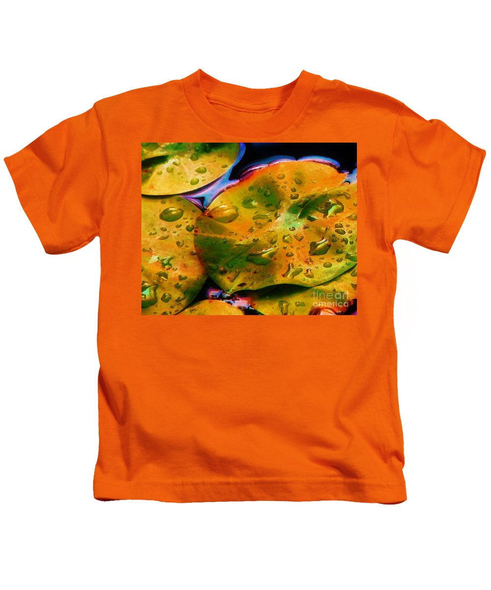 Water Kids T-Shirt featuring the photograph Lily Pads by Judi Bagwell