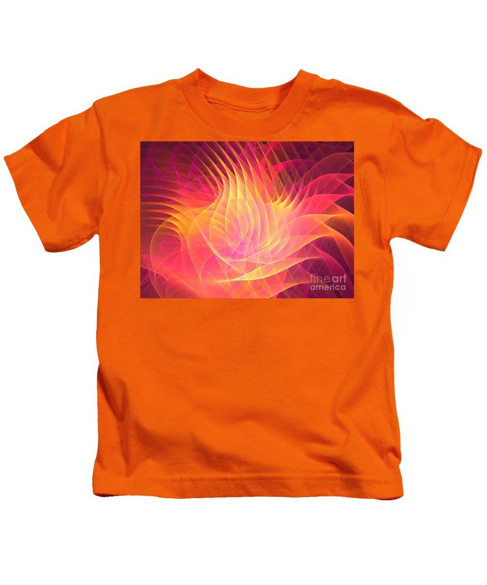 Apophysis Kids T-Shirt featuring the digital art Lotus by Kim Sy Ok