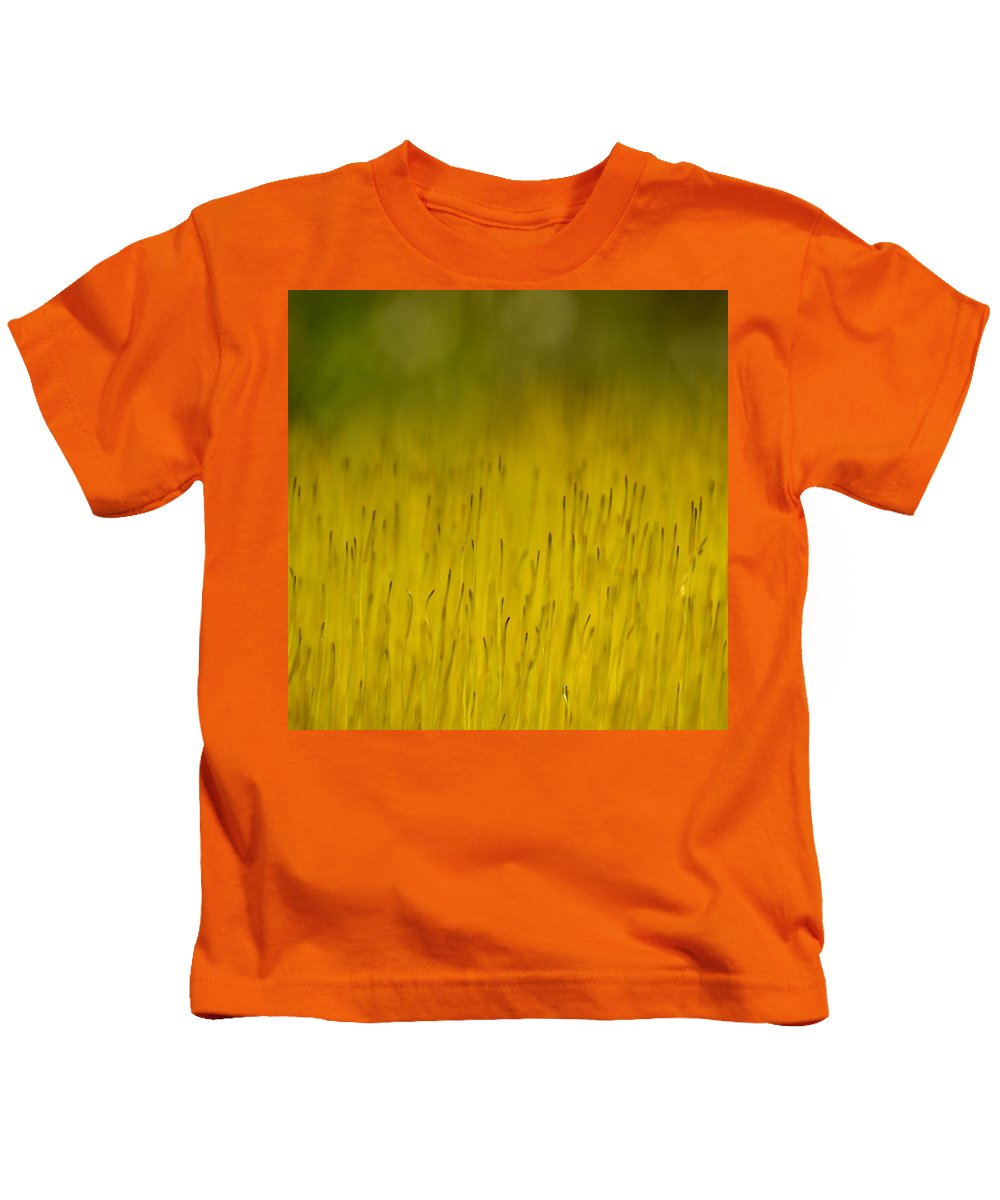 J.d. Grimes Kids T-Shirt featuring the photograph Moss In Yellow by JD Grimes