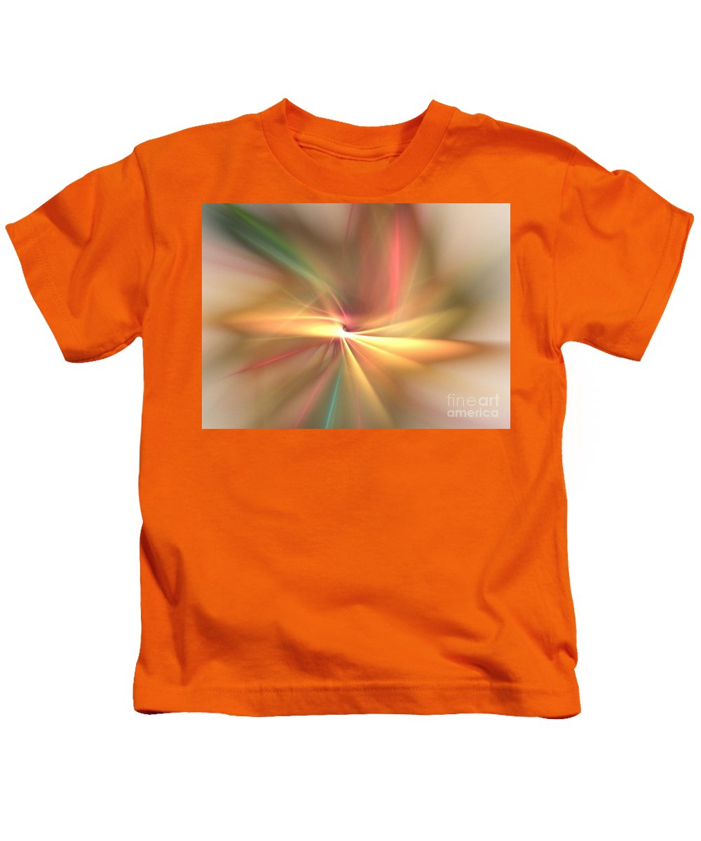 Apophysis Kids T-Shirt featuring the digital art Pinwheel by Kim Sy Ok