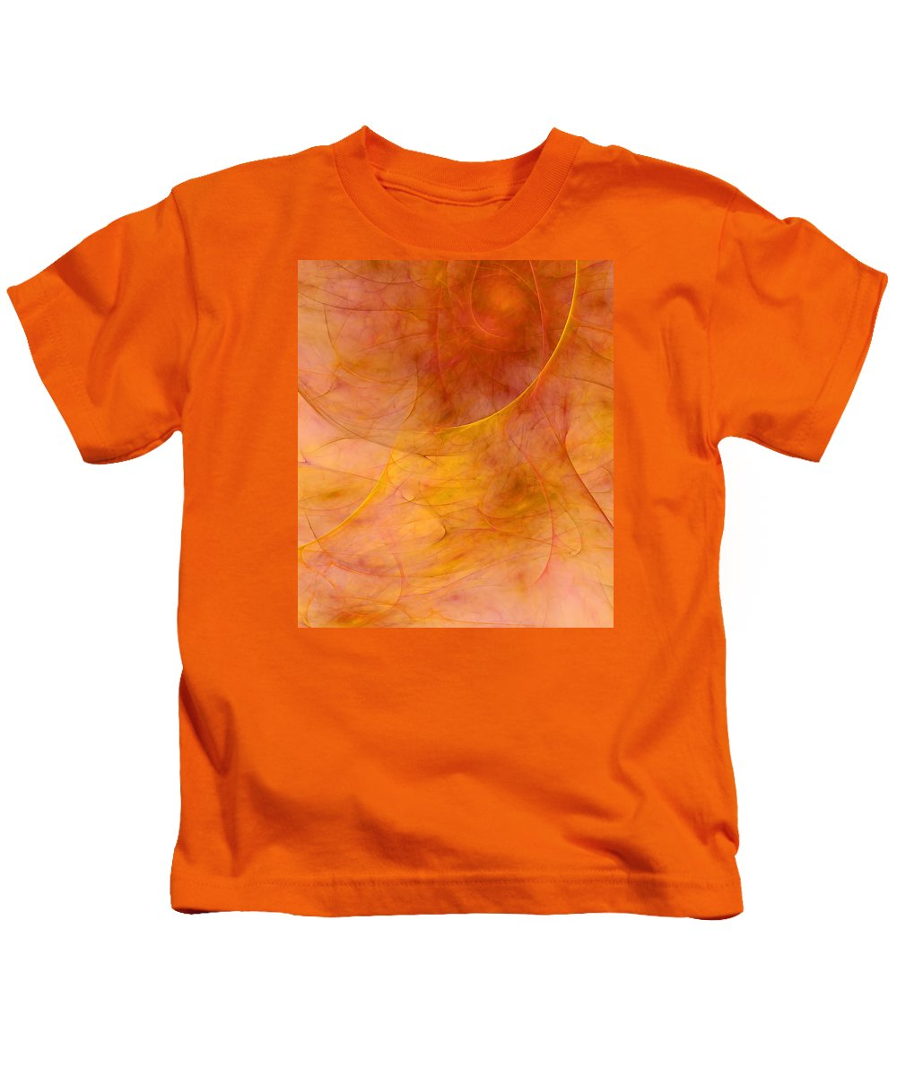 Abstract Kids T-Shirt featuring the digital art Poetic Emotions Abstract Expressionism by Georgiana Romanovna