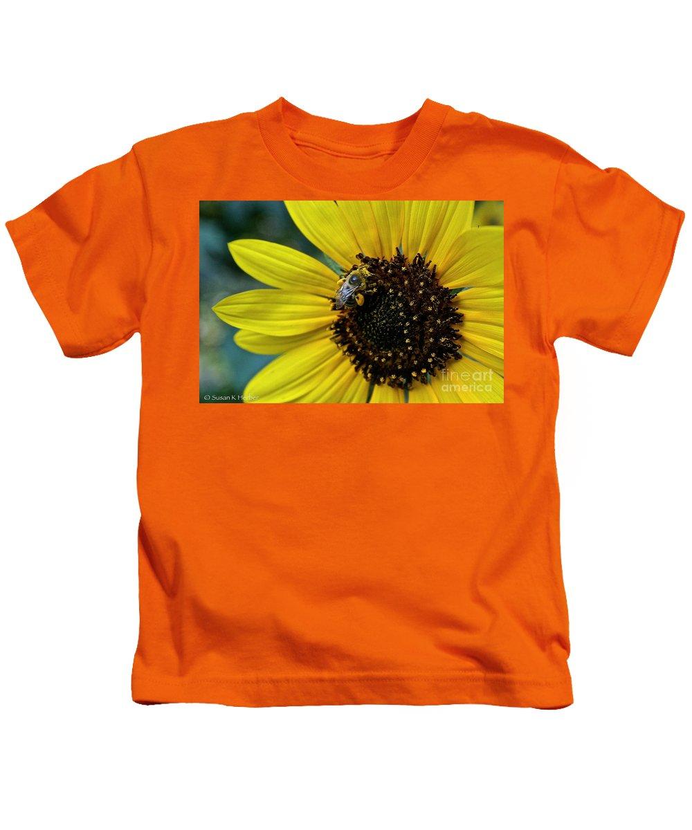 Kids T-Shirt featuring the photograph Pollen Laden by Susan Herber