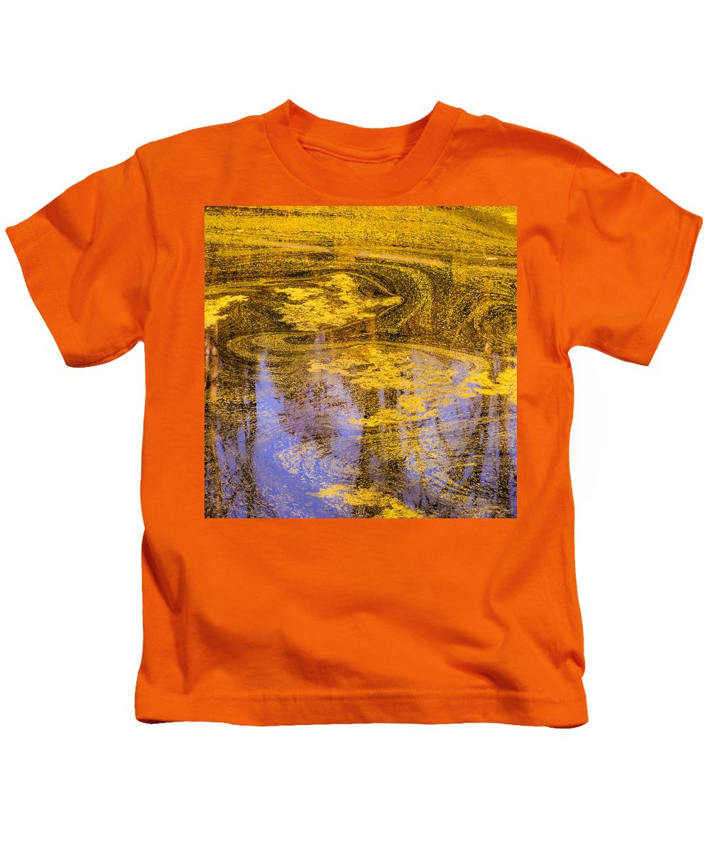 Pond Scum Kids T-Shirt featuring the photograph Pond Scum Two by Mike Penney