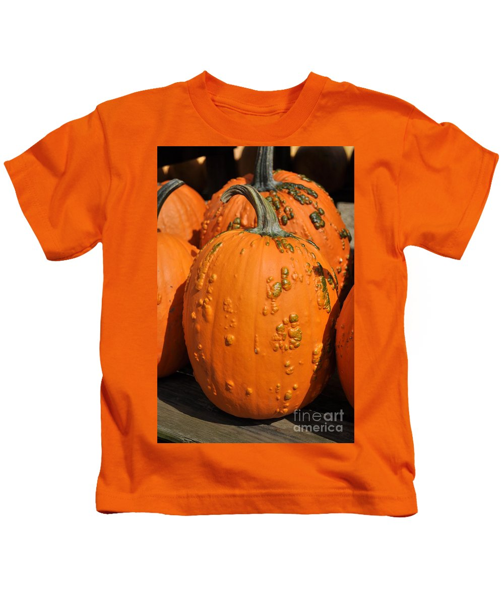 Pumpkin Kids T-Shirt featuring the photograph Pumpkinville by Luke Moore