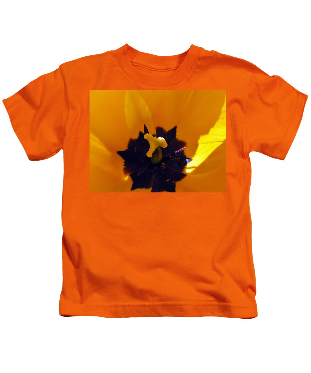 Yellow Kids T-Shirt featuring the photograph Secret Place by Tikvah's Hope