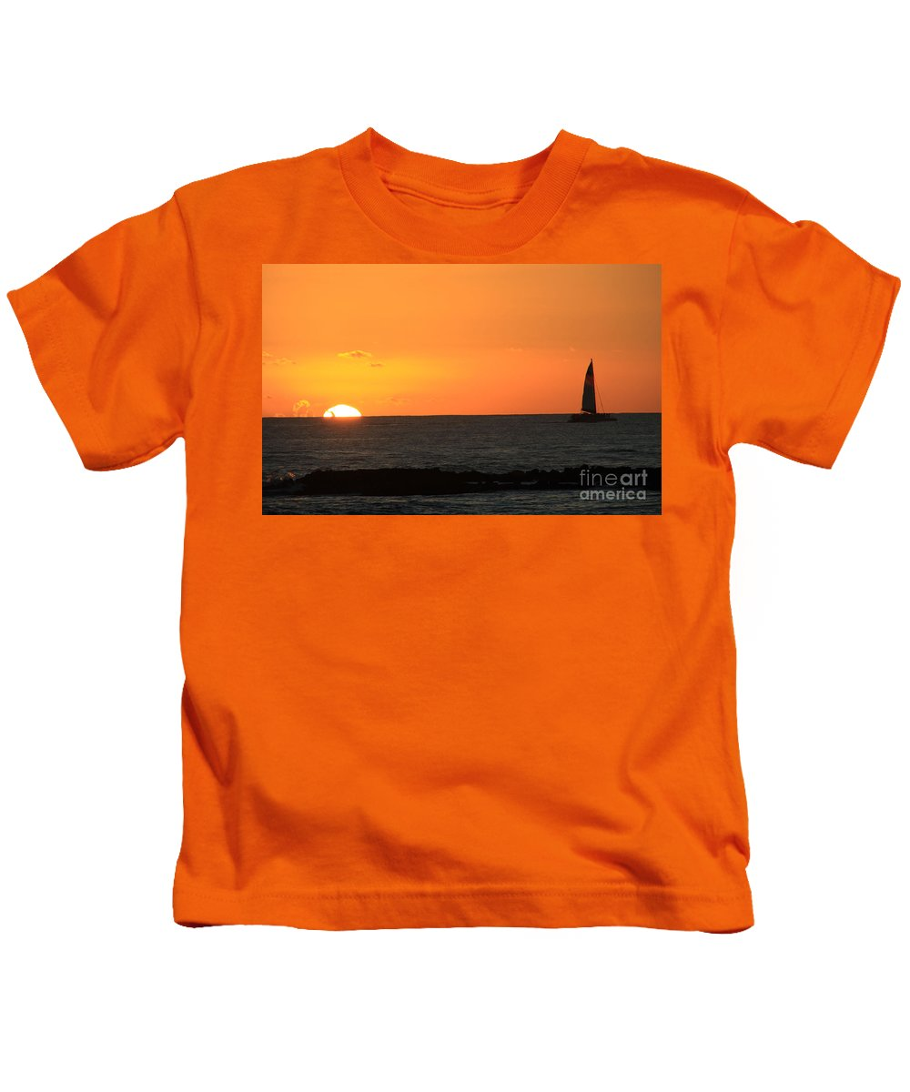 Sunset Kids T-Shirt featuring the photograph Sunset Cruise by Dana Kern