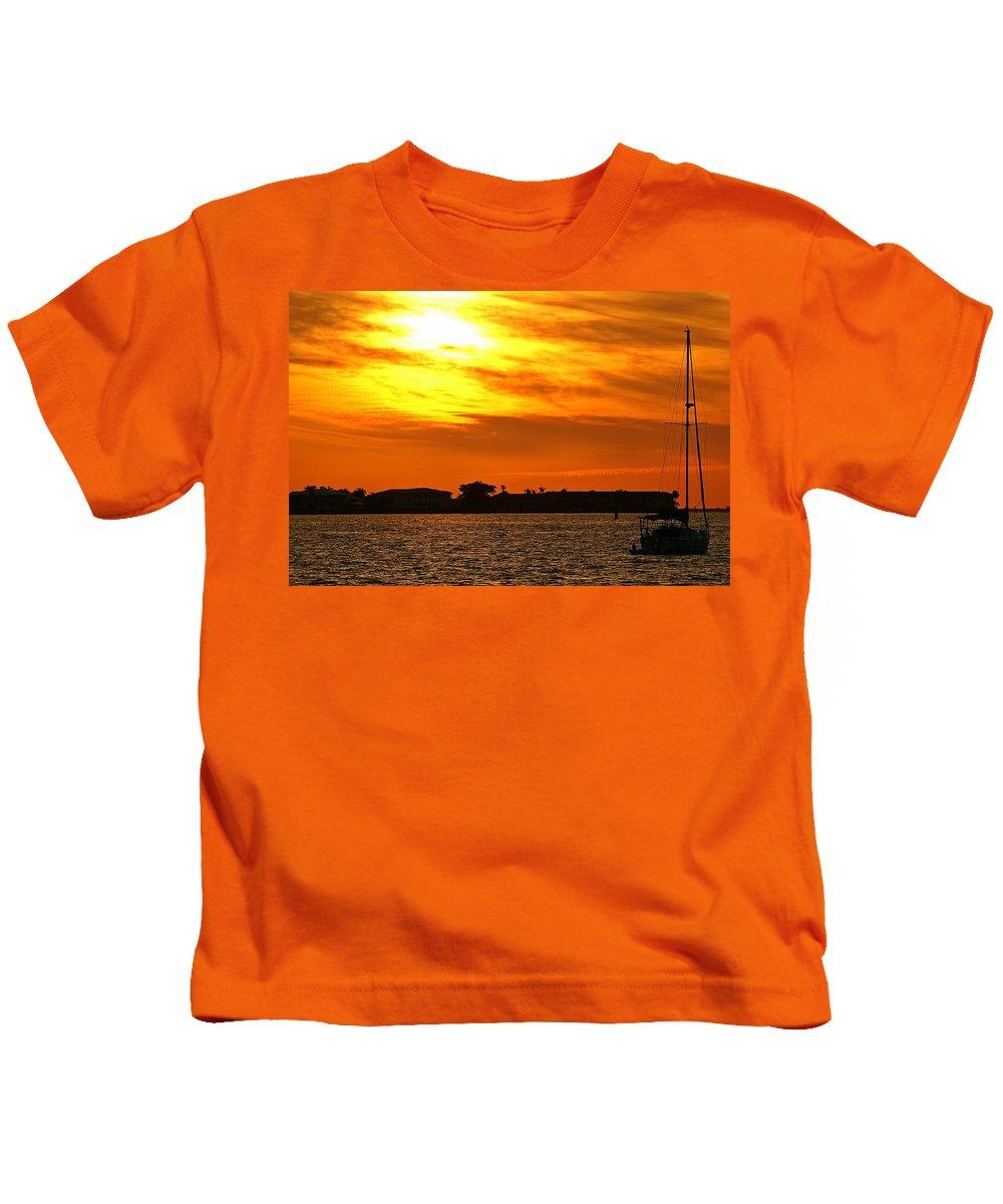Sunset Kids T-Shirt featuring the photograph Sunset Viii by Joe Faherty