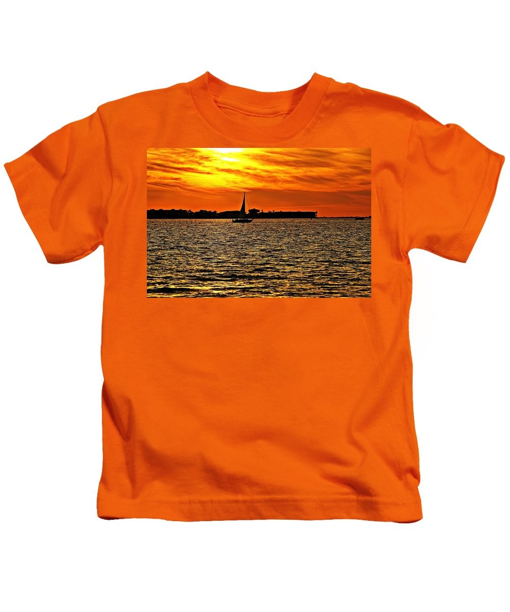 Sunset Kids T-Shirt featuring the photograph Sunset Xi by Joe Faherty