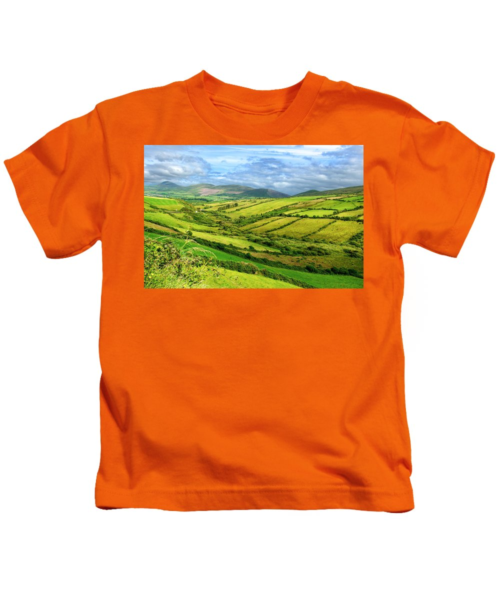 Ireland Kids T-Shirt featuring the photograph The Emerald Island by David Resnikoff