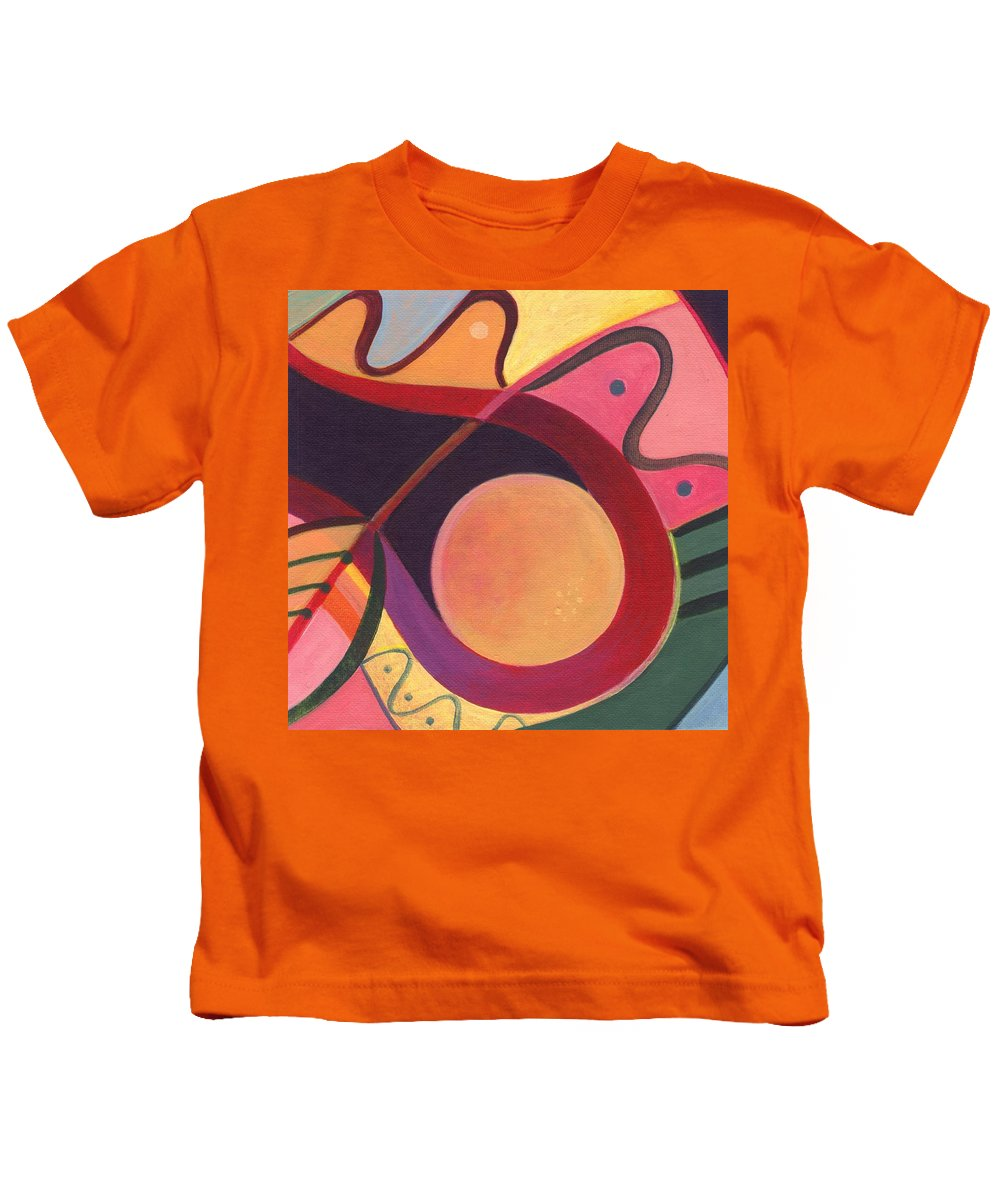 Abstract Kids T-Shirt featuring the digital art The Joy Of Design I Part Four by Helena Tiainen