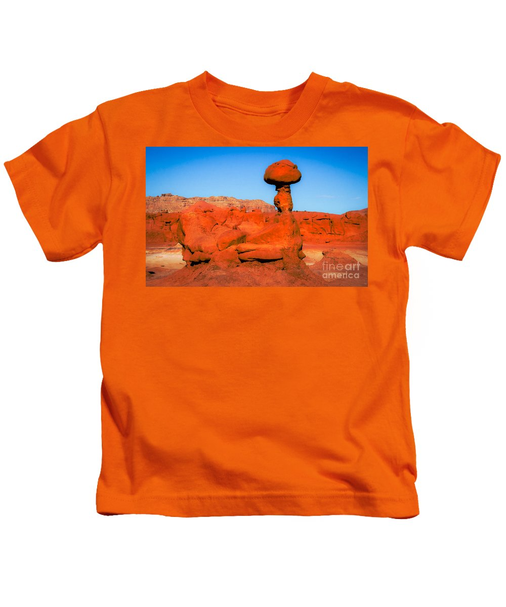 Goblin Valley Kids T-Shirt featuring the photograph The Monster by Robert Bales
