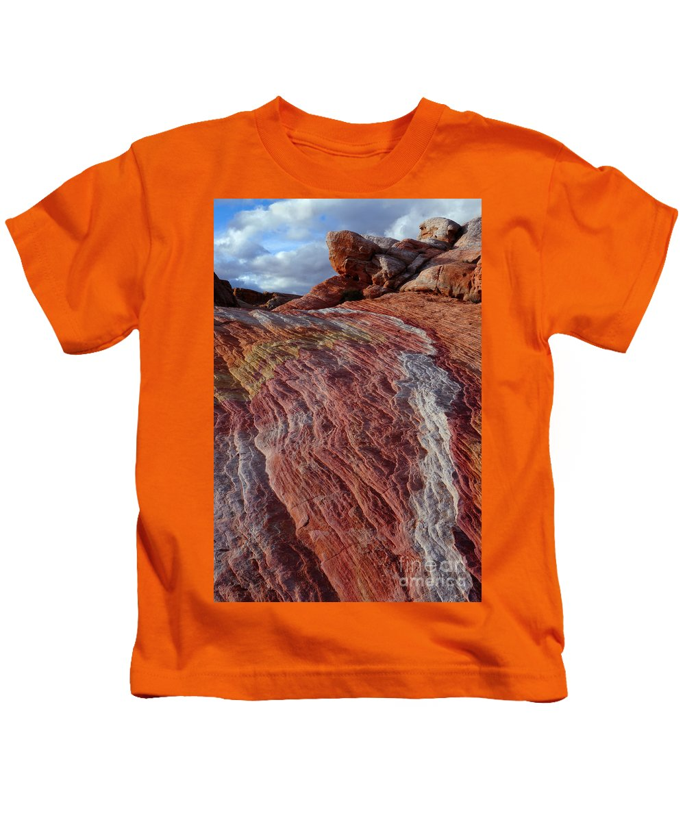 Valley Of Fire Kids T-Shirt featuring the photograph Valley Of Fire 1 by Vivian Christopher