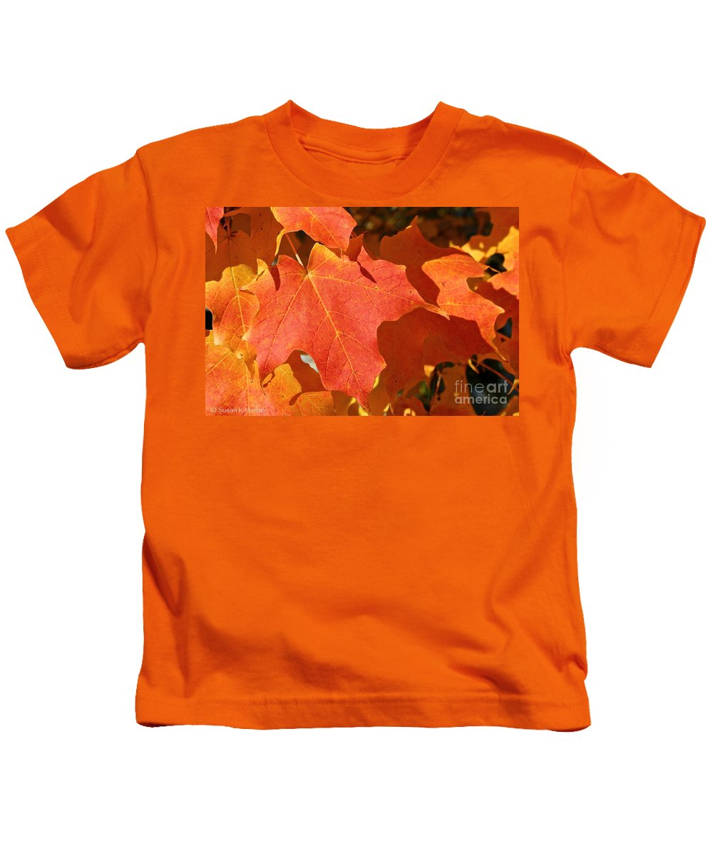 Outdoors Kids T-Shirt featuring the photograph Vibrant Maple by Susan Herber