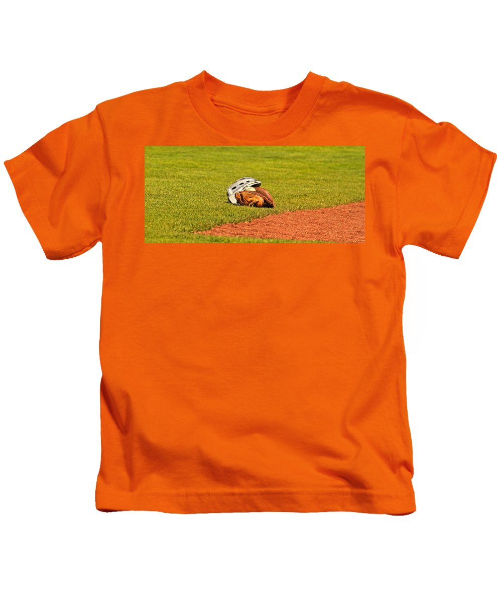 Ball Kids T-Shirt featuring the photograph Waiting To Be Used by Laddie Halupa