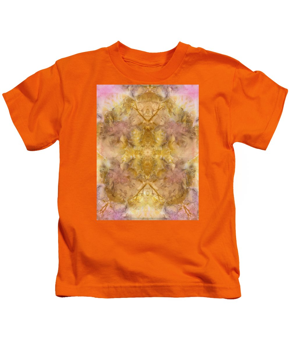 Botanical Kids T-Shirt featuring the digital art Eco Print 010_01 by Artzmakerz