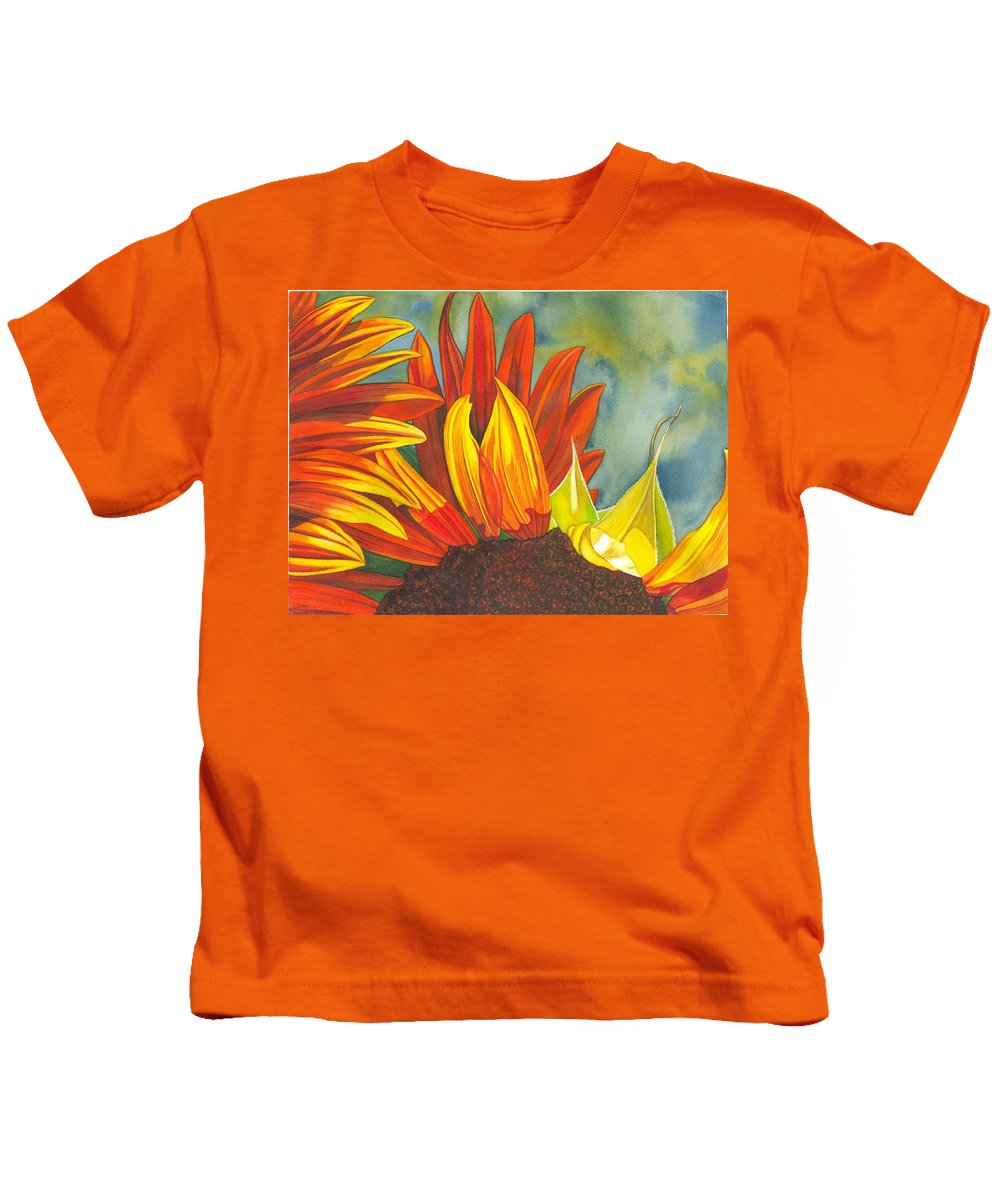 Sunflower Kids T-Shirt featuring the painting Ray by Catherine G McElroy