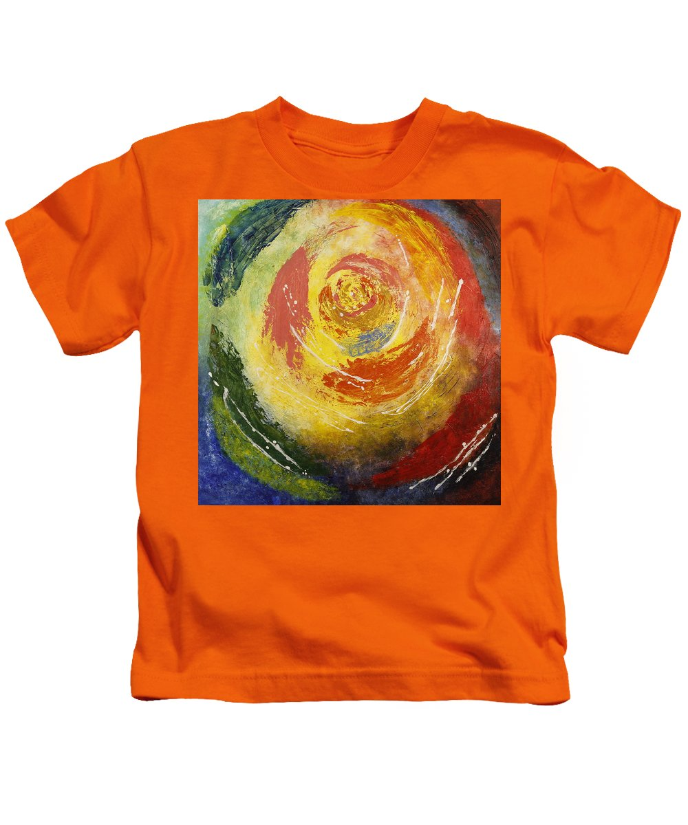 Abstract Rose Kids T-Shirt featuring the painting Abstract Rose by Seema Varma