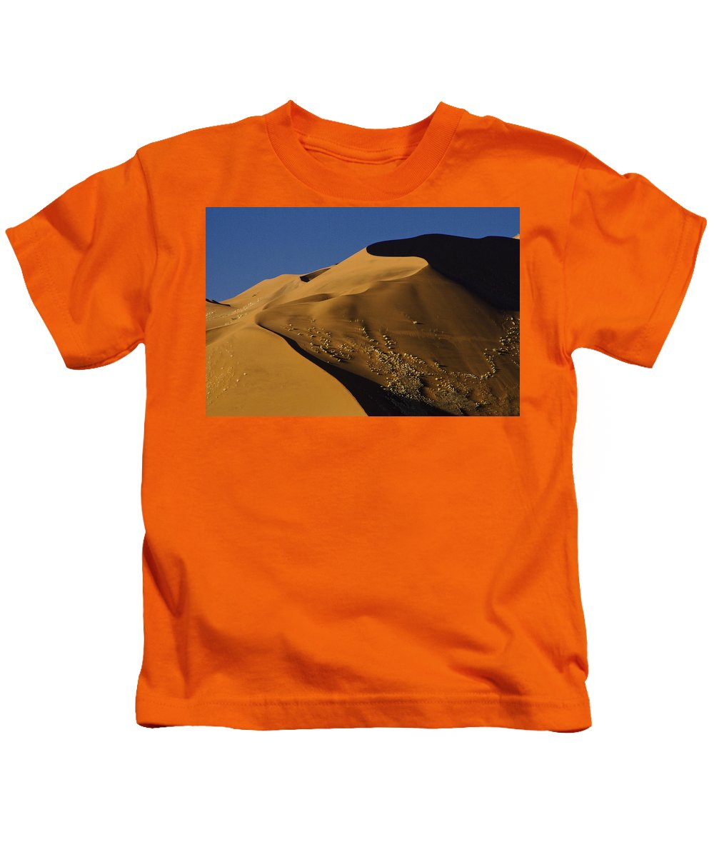 Africa Kids T-Shirt featuring the photograph Contours Of Sossusvlei by Michele Burgess
