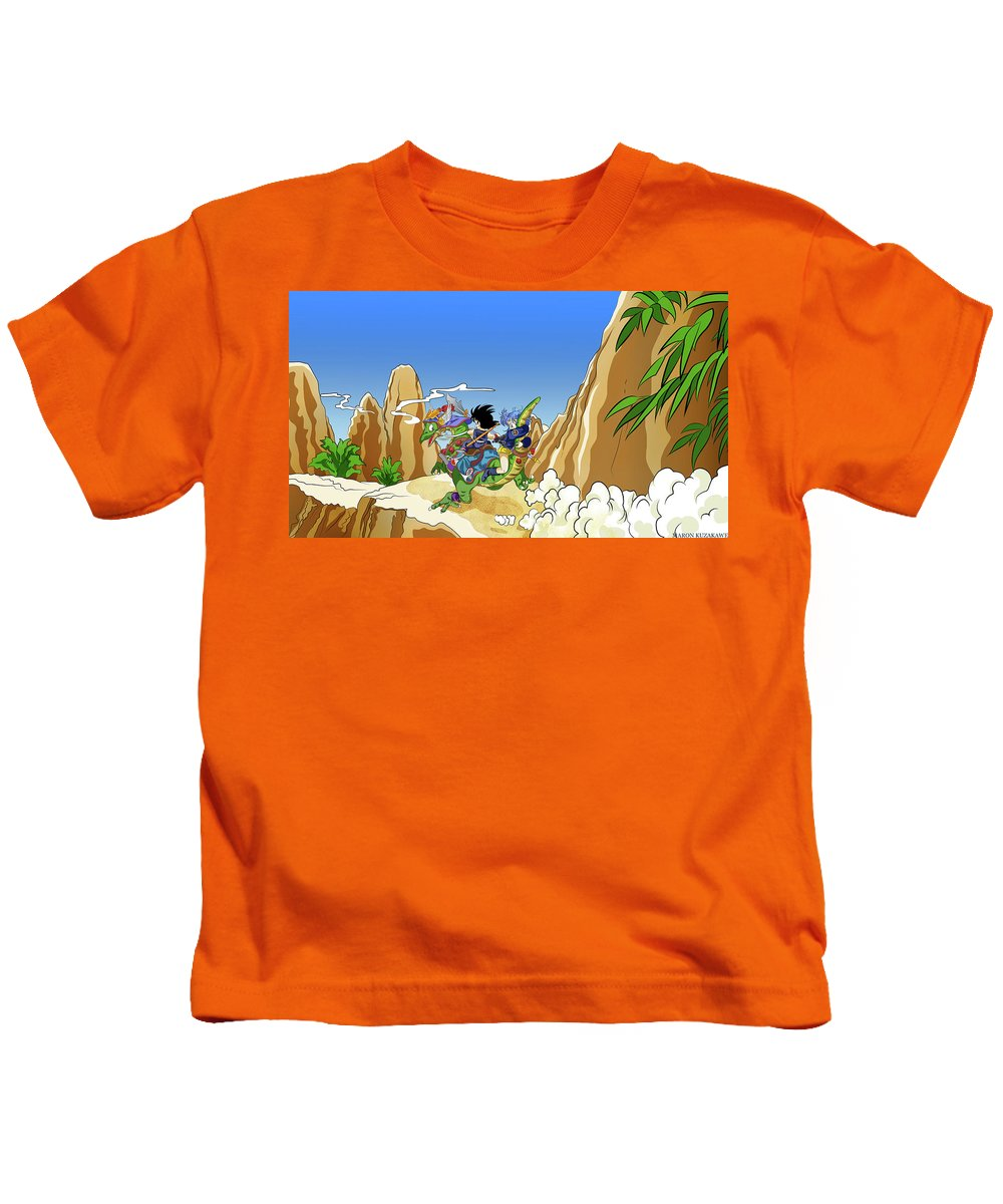 Dragon Ball Z Kids T-Shirt featuring the digital art Dragon Ball Z by Dorothy Binder